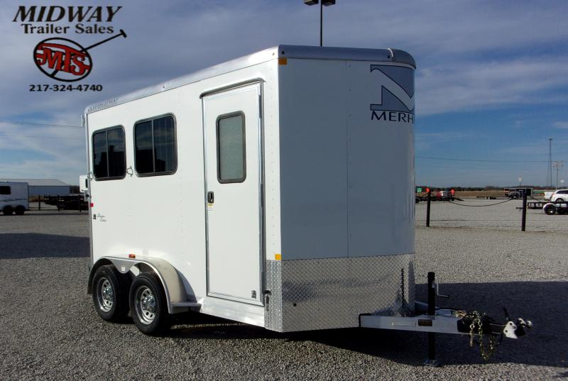 2021 Merhow Trailers Bronco 2H w/4' SW Dress BP Horse Trailer