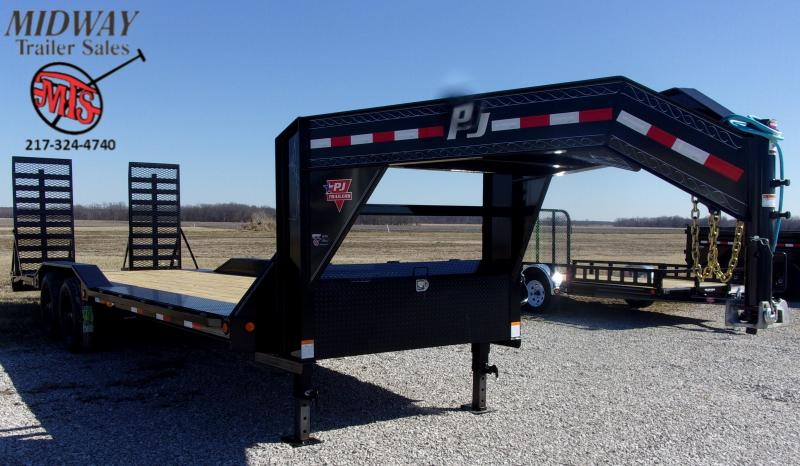"2020 PJ Trailers 102 X 24' (22+2) 10"" Pro-Beam Super Wide TA GN Equipment Trailer"