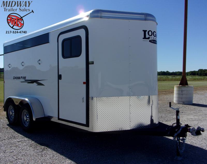 "2020 Logan Coach Crossfire 3H w/ 0"" Dress BP Horse Trailer"