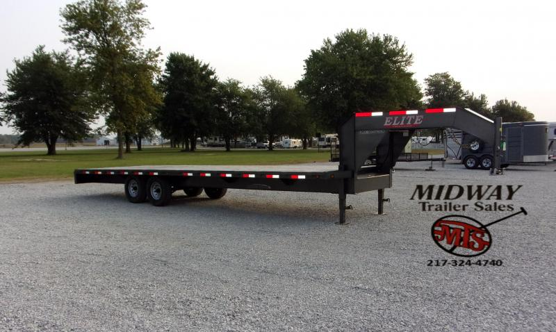 2020 Elite Trailers 28' SW Float GN Flatbed Trailer