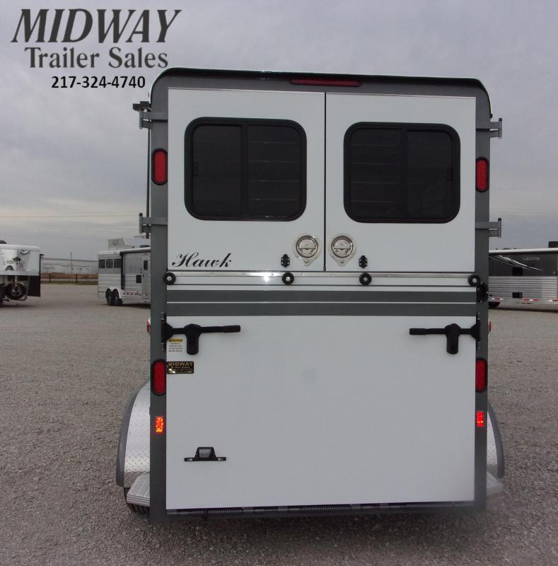 2021 Hawk Trailers Elite 2H Walk Thru w/ Dress BP Horse Trailer