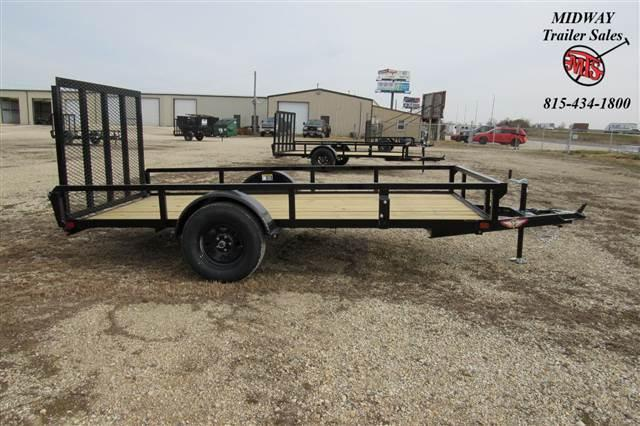 2021 H and H Trailer 66x12' Steel Rail Side Utility 3.5K Utility Trailer