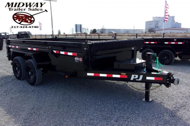 2021 PJ Trailers 83 X 14' Low Pro Dump TA BP Dump Trailer
