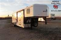 2021 Bison Trailers 7206 Quick Draw w/6' SW LQ GN Horse Trailer