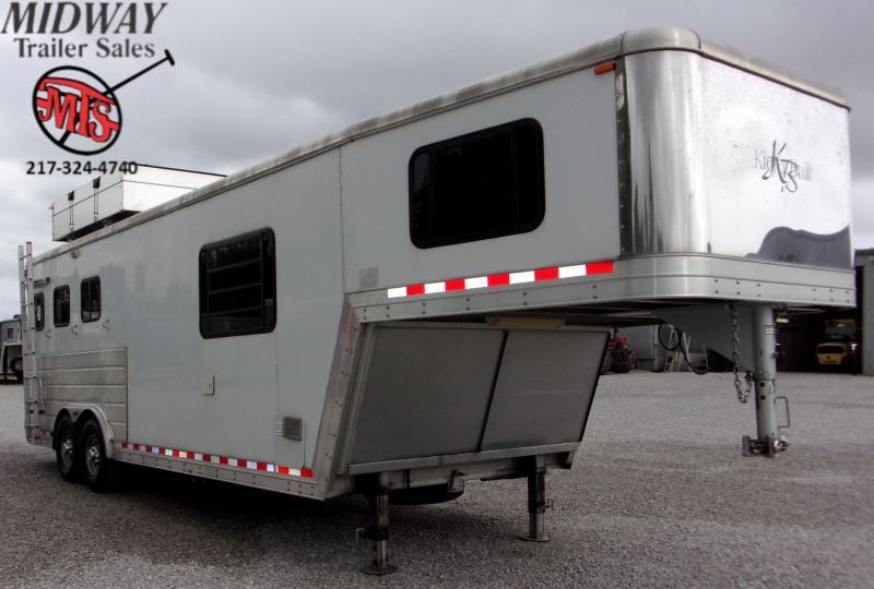 2007 Kiefer Built Genesis X8083 3H w/9' SW LQ GN Horse Trailer