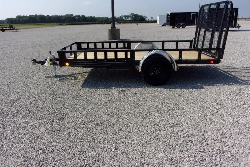 2022 PJ Trailers 77 X 12' CH Utility w/Side Mt ATV Ramps SA BP Flatbed Trailer