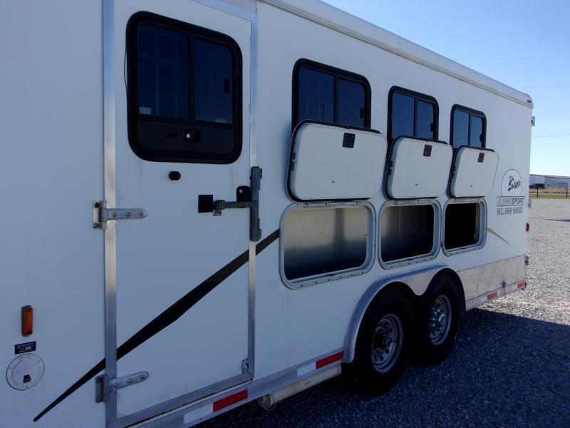 2008 Bison Trailers Aluma Sport 8414 Horse Trailer