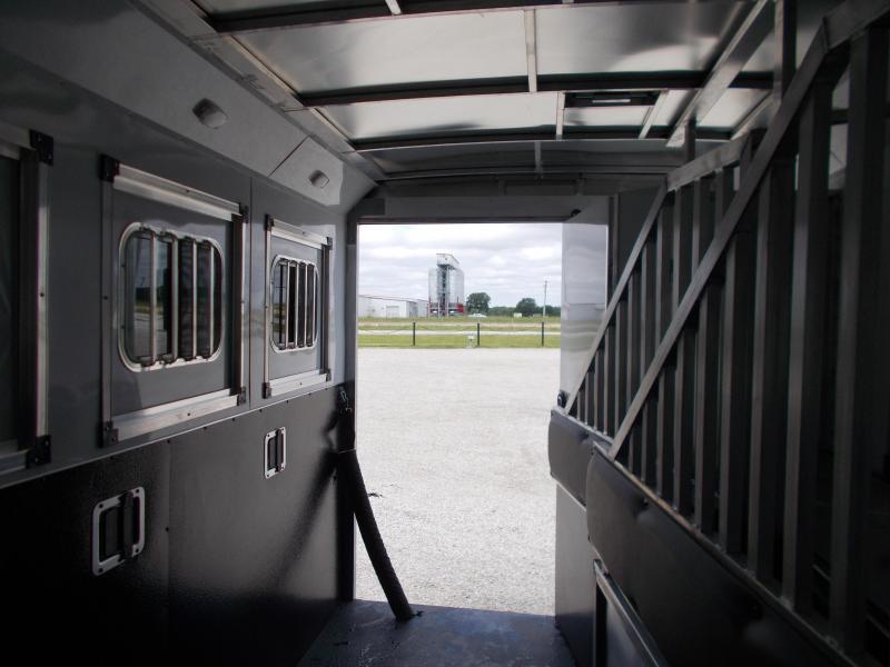 2022 Bison Trailers 7311 Desperado 3H w/11' SW Horse Trailer