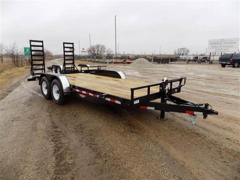 "2019 H and H Trailers 82"" x 18' (16+2) Equipment Trailer"
