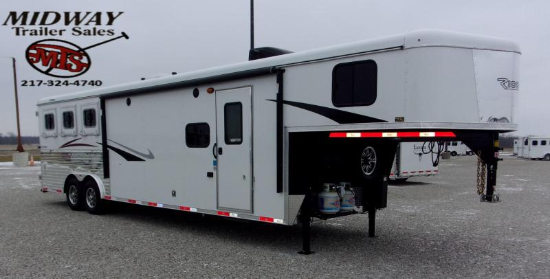 2021 Bison Trailers Ricochet 831 w/11' SW & Slide GN Horse Trailer