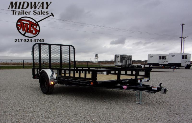 2021 PJ Trailers 77 X 12' (10+2) CH Util w/Side MT ATV Ramps SA BP Utility Trailer