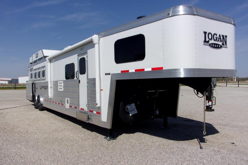2020 Logan Coach 814 Select 4H w/ 14' SW LQ & Slide Horse Trailer