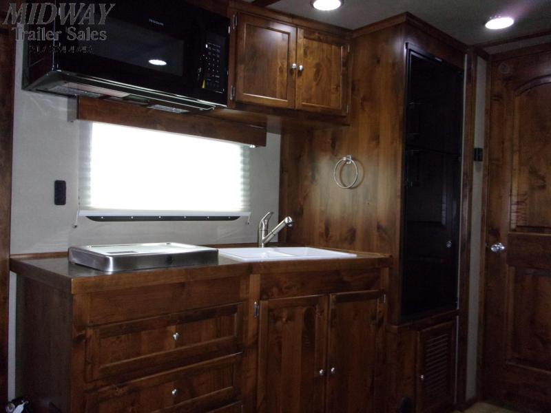 2020 Logan Coach 814 Select 4H w/ 14' SW LQ & Slide Horse Trailer