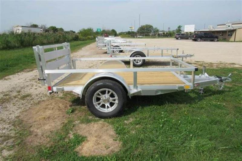 "2020 H and H Trailers 60"" x 8' RS Single Axle Aluminum Utiltiy Trailer"