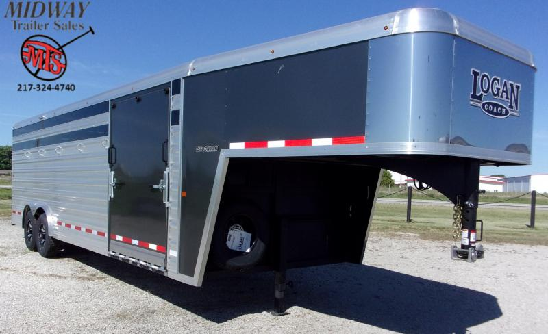 2020 Logan Coach Stockman 8' X 7' X 24' GN Horse Trailer