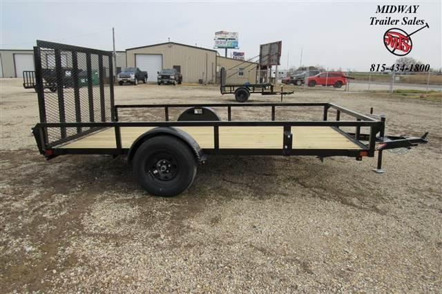 2021 H and H Trailer 82X12' Steel Rail Side Utility 3.5K Utility Trailer