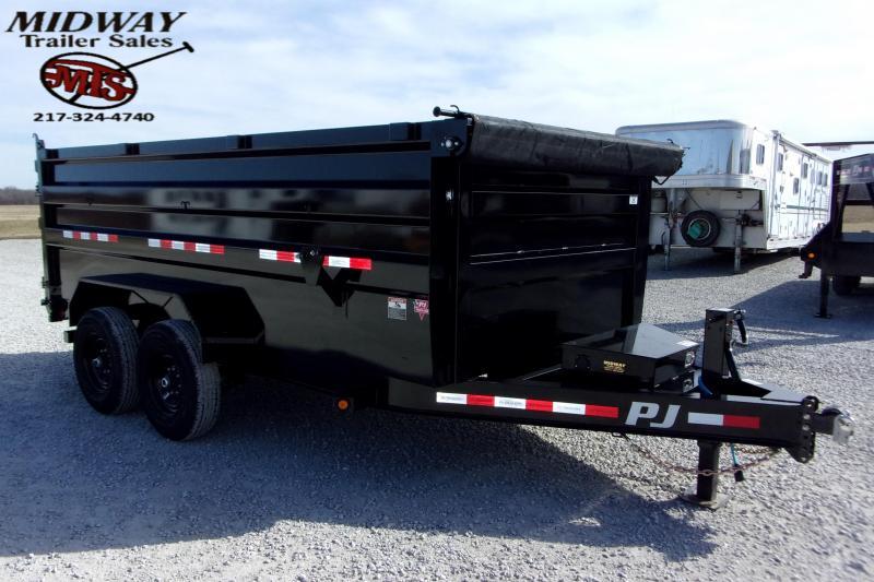 2021 PJ Trailers 83 X 14' Low Pro High Dump TA BP Dump Trailer