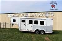 2007 Keifer Built Genesis 3X w/ 5' SW Weekender Horse Trailer