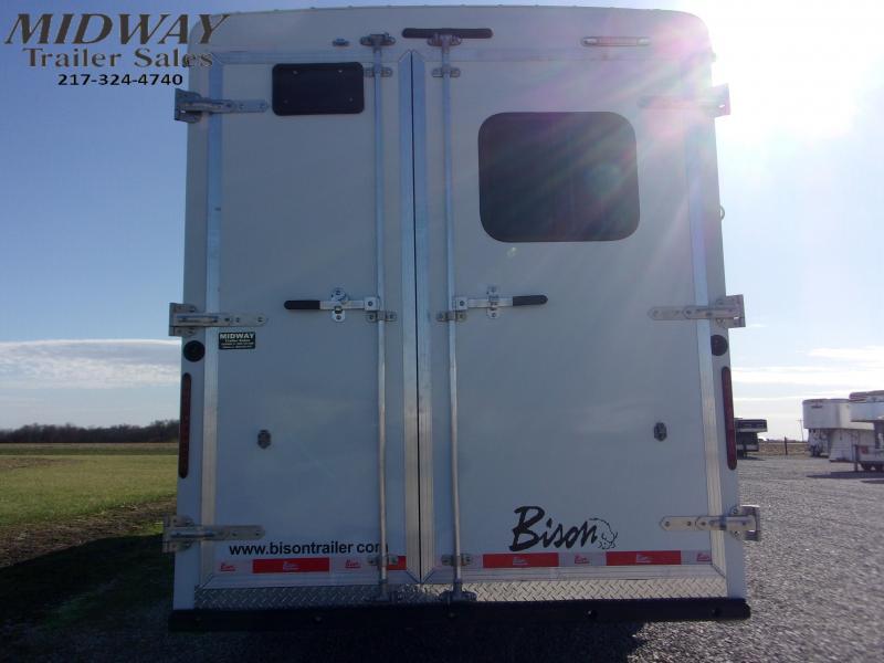 2021 Bison Trailers 7308 Quick Draw w/8' SW LQ GN Horse Trailer