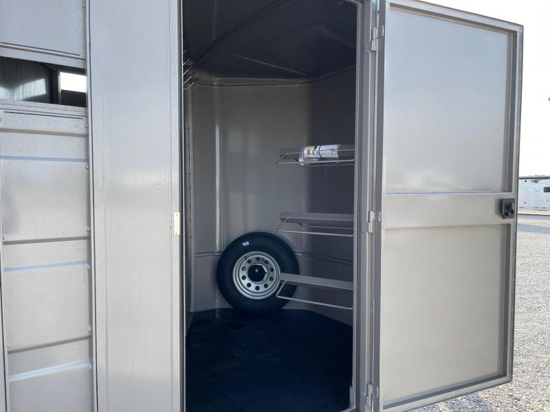 "2022 Titan Trailers Primo 3H (7x6'8x16') w/ 24"" Dress BP Horse Trailer"