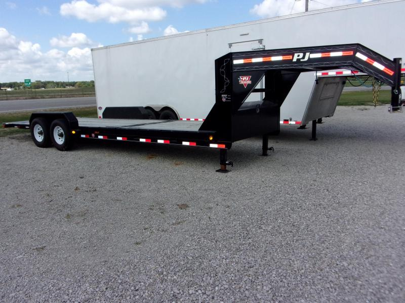 "2020 PJ Trailers 82 X 24' (8+16') 6"" CH HD Equip Tilt TA GN Equipment Trailer"