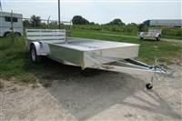 2021 H and H Trailer 60x8' Steel Rail Side 3.5K Utility Trailer