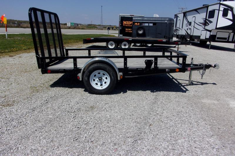 2019 PJ Trailers 77x10' CH Utility w/Side Mount ATV Ramps SA BP Other Equipment
