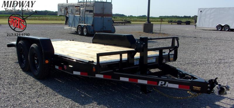 "2021 PJ Trailers 82 X 16' 6"" CH Equipment Tilt TA BP Equipment Trailer"