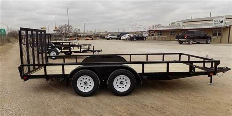 """2019 H and H Trailers 82"""" x 16' RS Tandem Axle Utiltiy Trailer"""