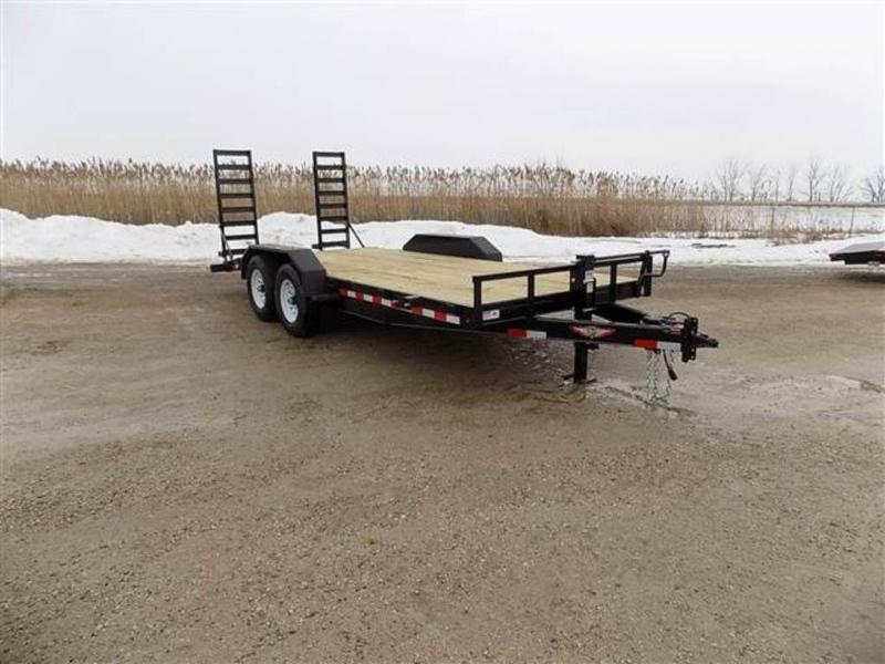 """2018 H and H Trailers 82"""" x 18' Industrial Flatbed Trailer"""