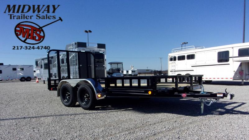 2021 PJ Trailers 83 X 14' CH Util w/Side MT ATV Ramps TA BP Utility Trailer
