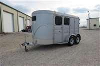 2009 Calico Trailers 2H Slant BP w/Front Tack Horse Trailer