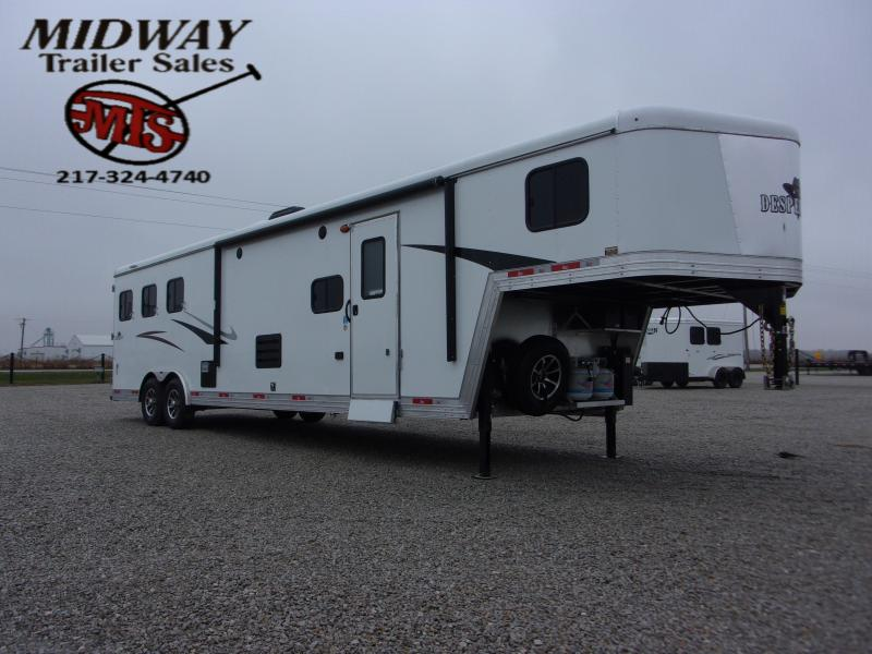 2021 Bison Trailers Desperado 8313 w/13' SW LQ & Slide Horse Trailer