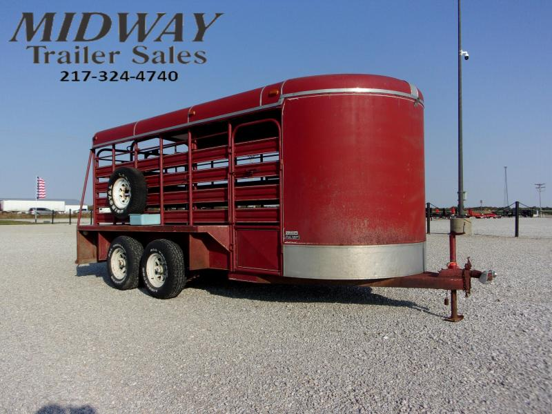 1986 Coose 16' Stock Livestock Trailer