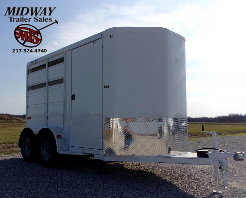 "2021 Titan Trailers Primo 6 X 7x 12' 2H w/24"" Dress BP Horse Trailer"