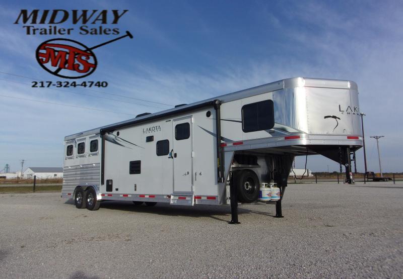 2021 Lakota C8313SR Charger 3H w/13' SW & Slide GN Horse Trailer