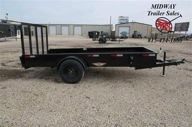 2021 H and H Trailer 66x12' Steel Solid Side Utility 3.5K Utility Trailer