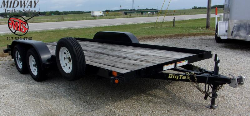 "2018 Big Tex Trailers 83"" X 16' Carhauler TA BP Equipment Trailer"
