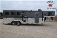2021 Bison Trailers 7309B Ricochet w/9' SW LQ GN Horse Trailer