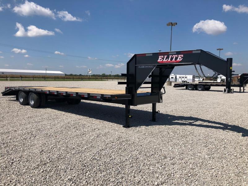 2021 Elite Trailers 102 X 30 (25+ 5) TD FLATBED GN Equipment Trailer