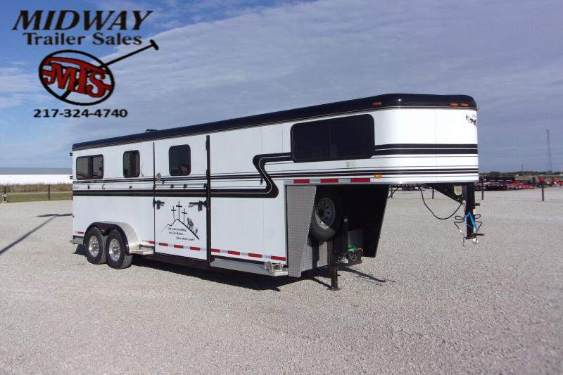 2014 Hawk Trailers 2+1 Elite GN Horse Trailer