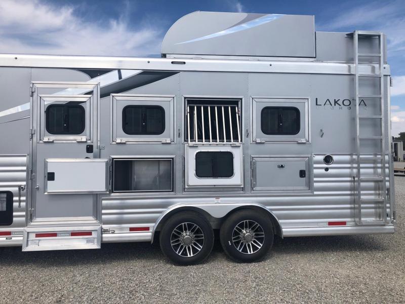 2021 Lakota Bighorn 8416 w/ 16' SW & Slide GN Horse Trailer