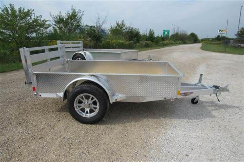 "2020 H and H Trailers 60"" x 8' SS Single Axle Aluminum Utiltiy Trailer"