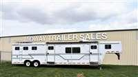 1998 Featherlite 3H w/ 17' SW LQ Horse Trailer