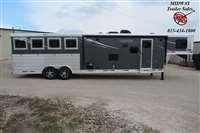2021 Lakota Charger 8314 4H w/13' SW GN Horse Trailer