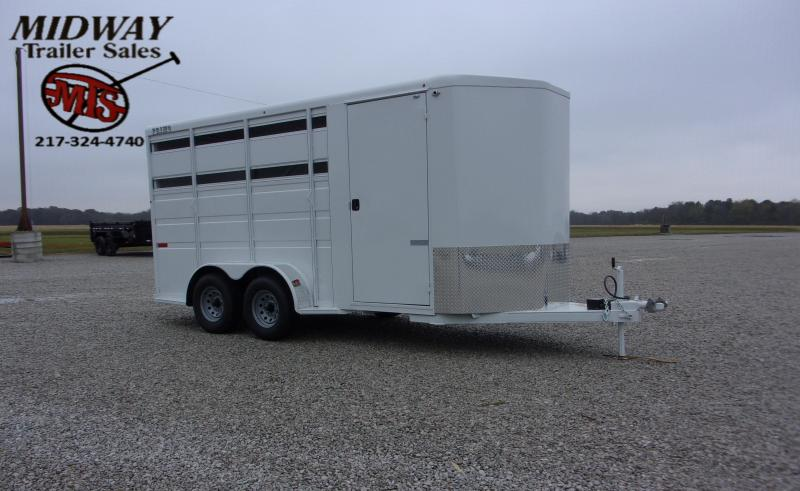"2021 Titan Trailers 7 x 6 x16 3H w/24"" Dress BP Horse Trailer"