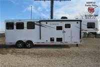 2021 Lakota charger C39 2H w/9' SW Living Quarters Enclosed Cargo Trailer