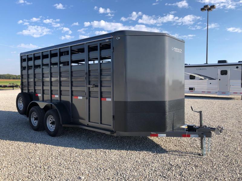 2022 Titan Trailers 6'8x7'6x16' Challenger Stock BP Horse Trailer