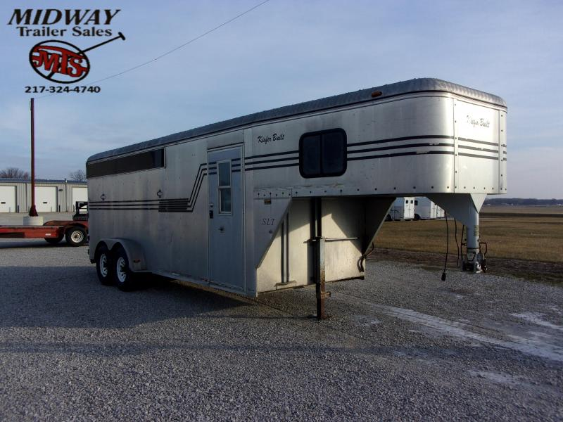 1997 Keifer Built 4H w/4' Dress GN Horse Trailer