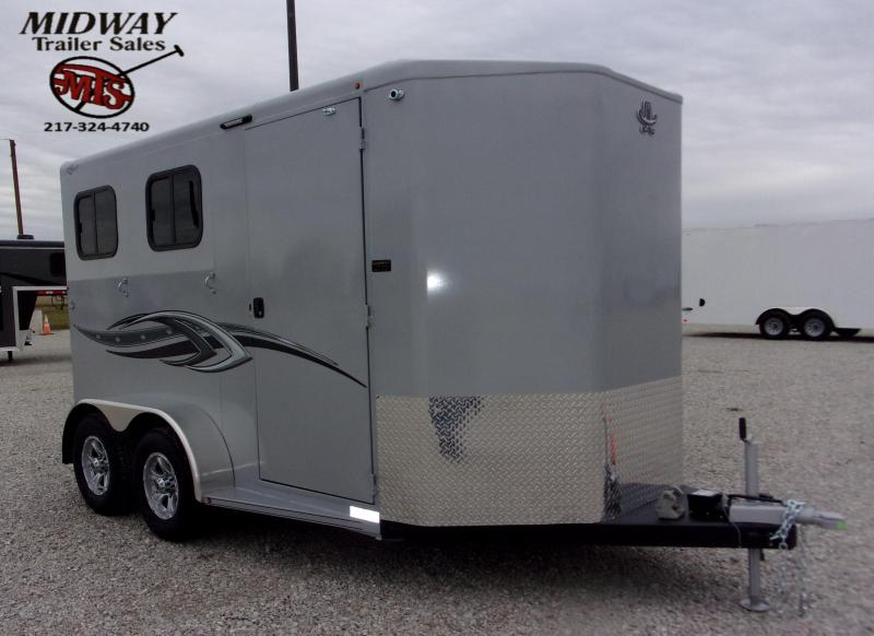 "2021 Titan Trailers Royal 2H w/28"" SW Dress BP Horse Trailer"